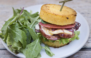 Polenta burger-compressed